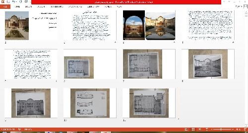 1763422 - پاورپوینت خانه طباطبایی ها و ورد معماری بیونیک